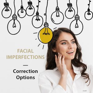 Correction options for facial imperfections graphic